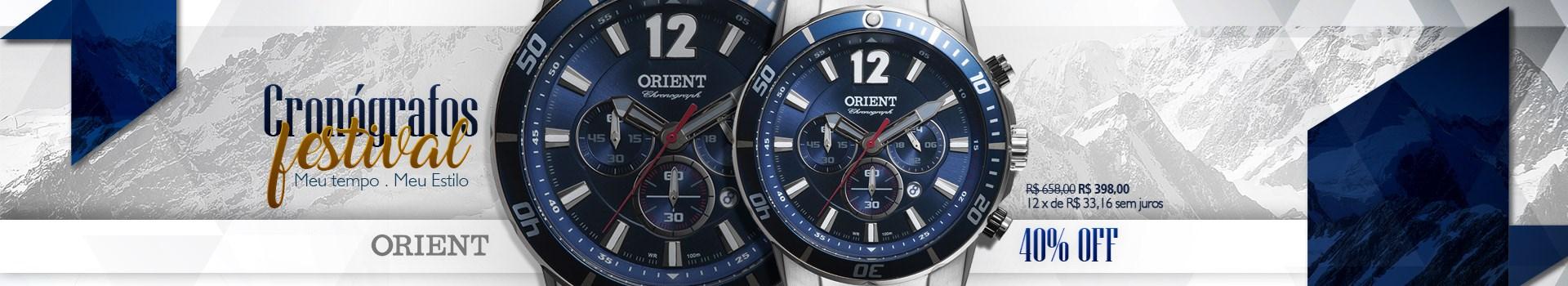 Relógio Orient Cronógrafo Masculino por apenas R$398 !