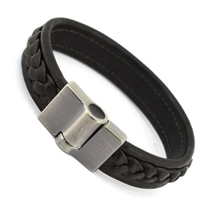 Bracelete Couro Masculino PL234