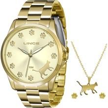 Kit Relógio Lince Feminino LRGJ063LK C1KX