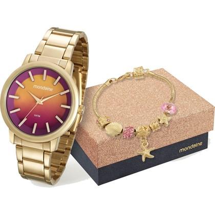 08461c43dc2 Kit Relógio Mondaine Feminino 53533LPMVDE1K - My Time