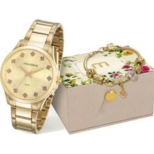 Kit Relógio Mondaine Feminino 53549LPMKDE2K1