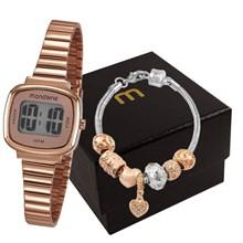 451d7e7a6e8 Kit Relógio Mondaine Feminino 53717LPMVRE2K1 ...
