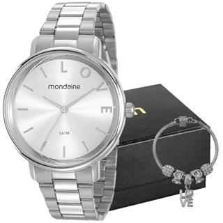 Kit Relógio Mondaine Feminino 53761L0MKNE3K1