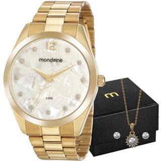 Kit Relógio Mondaine Feminino 53916LPMGDE1K1