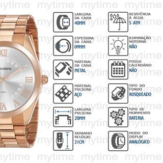 Kit Relógio Mondaine Feminino 53918LPMGRE3K1