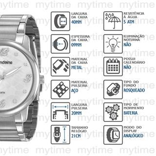 Kit Relógio Mondaine Feminino 53923L0MGNE3K1