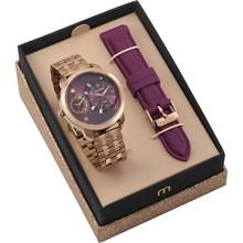 Kit Relógio Mondaine Feminino 76715LPMVRE3