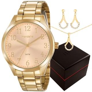 Kit Relógio Mondaine Feminino 99397LPMVDE2