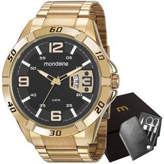 Kit Relógio Mondaine Masculino 53834GPMVDE2K1