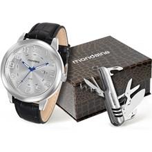 Kit Relógio Mondaine Masculino Prata Canivete 83306G0MKNH1K1