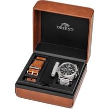 Kit Relógio Orient Masculino Cronógrafo Titânio MBTTC013