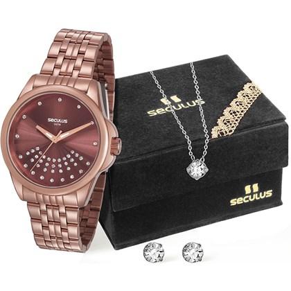 ebefe6fcd5b Kit Relógio Seculus Feminino 20599LPSVMS3K1 - My Time