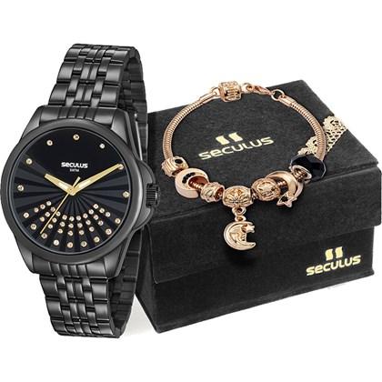 Kit Relógio Seculus Feminino 20599LPSVPS4K1