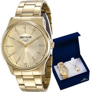 Kit Relógio Seculus Feminino 28654LPSVDA1K1