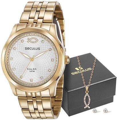 a22217184b1 Kit Relógio Seculus Feminino 28968LPSKDA1K1 - My Time