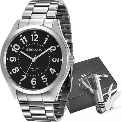 22c8e12671f Kit Relógio Seculus Masculino 28866G0SVNA3KZ - My Time