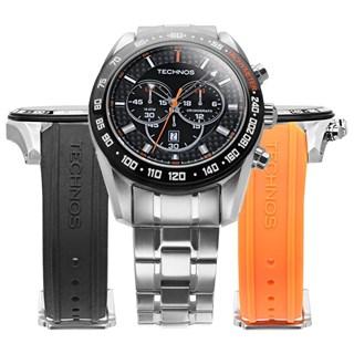 Kit Relógio Technos Masculino Cronógrafo OS20HM/1P