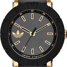 Relógio Adidas Amsterdam Masculino Preto Couro ADH3041