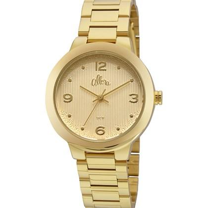 d0203a32349 Relógio Allora Feminino Dourado AL2035FGK 4D - My Time