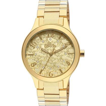 b825370a608 Relógio Allora Feminino Dourado AL2035IX 4D - My Time
