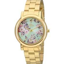 Relógio Allora Feminino Dourado Azul AL2035FAD/4A