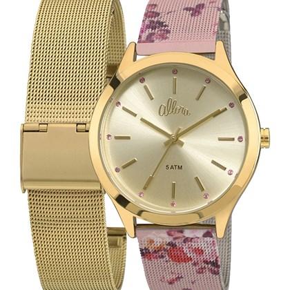 Relógio Allora Feminino Dourado Kit Rosa AL2035FAB K4D - My Time 1d5ecfdecc