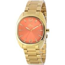 Relógio Allora Feminino Dourado Laranja AL2035KT/4L