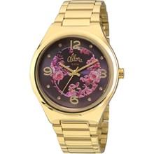 Relógio Allora Feminino Dourado Preto Rosa AL2035FAF/4G