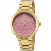 Relógio Allora Feminino Dourado Rosa AL2035FGK/4Q