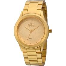 Relógio Allora Feminino Flores Geométricas Dourado AL2035FDU/4X