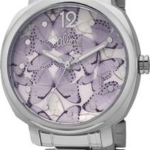 Relógio Allora Feminino Kit Asa de Borboleta Prata AL2036FFY/K3G