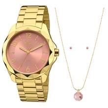 Relógio Allora Feminino Kit Facetados Par Perfeito AL2036CL/K4T