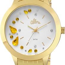 Relógio Allora Feminino Kit Pendeloques Dourado AL2036FGN/K4D