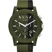 Relógio Armani Exchange Cronógrafo Masculino Verde preto AX1333