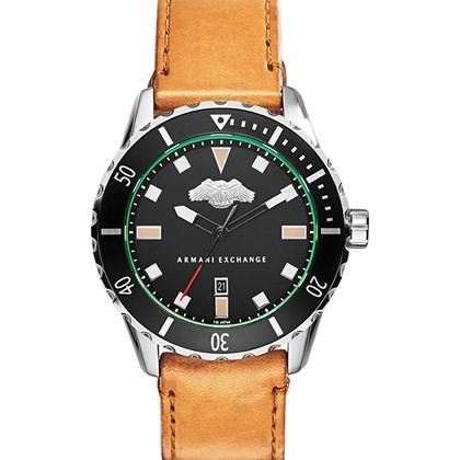 e3907a2fdbf Relógio Armani Exchange Masculino Couro Marrom AX1707 - My Time