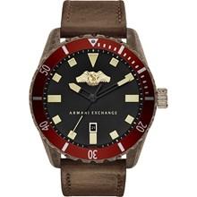 Relógio Armani Exchange Masculino Couro Marrom AX1712