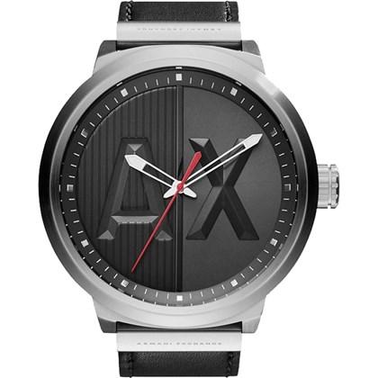 5835bdfb37f Relógio Armani Exchange Masculino Couro Preto AX1361 - My Time