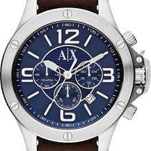 Relógio Armani Exchange Masculino Cronógrafo Couro Azul AX1505