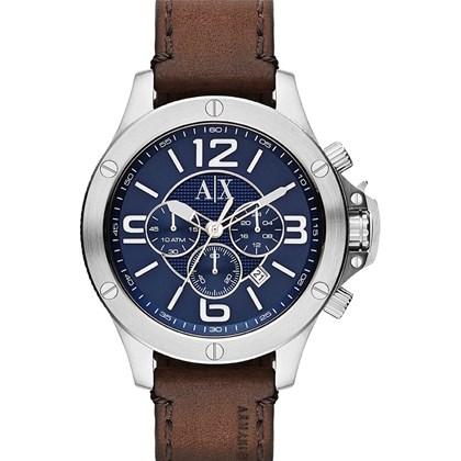 dda6aac9d94 Relógio Armani Exchange Masculino Cronógrafo Couro Azul AX1505 - My Time