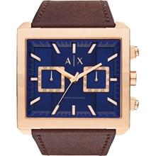 Relógio Armani Exchange Masculino Cronógrafo Couro Azul AX2225