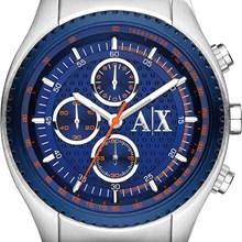 Relógio Armani Exchange Masculino Cronógrafo Prata Azul AX1607
