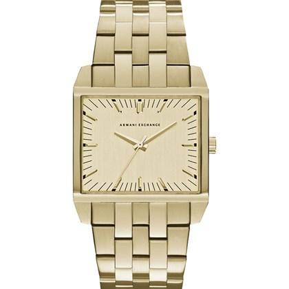 ab4e5f34e0e Relógio Armani Exchange Masculino Dourado Quadrado AX2219 - My Time