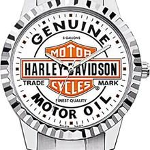 Relógio Bulova Harley Davidson Masculino Prata Branco WB31372Q