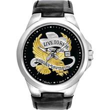 Relógio Bulova Harley Davidson Masculino Prata Preto WB31612T