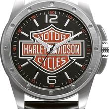 Relógio Bulova Harley Davidson Masculino Prata Preto WH30019T
