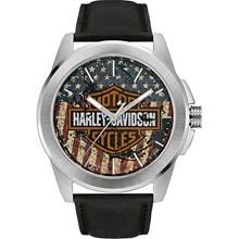 Relógio Bulova Harley Davidson Masculino Prata Preto WH30493T