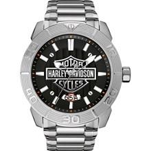 Relógio Bulova Harley Davidson Masculino Prata Preto WH30546T