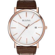 Relógio Bulova Masculino Couro Marrom Branco WB21150B