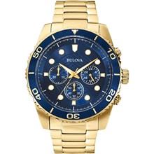 Relógio Bulova Masculino Cronógrafo Dourado Azul WB31989Z