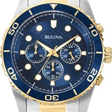 Relógio Bulova Masculino Cronógrafo Misto Azul WB31989A